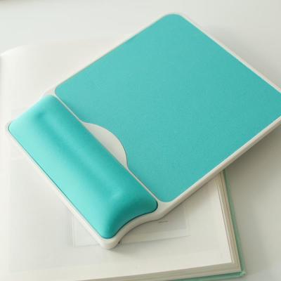 梦天记忆棉慢回弹护腕鼠标垫办公手托舒适美观塑料硬地橡胶防滑