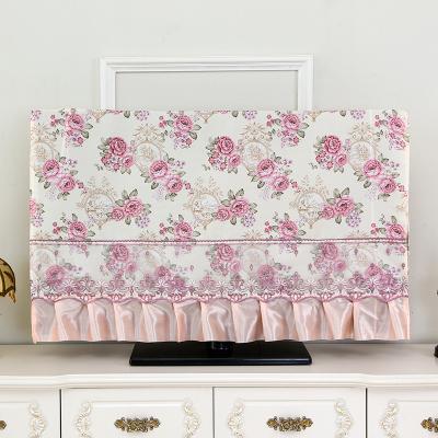 (送遥控器套)挂式电视罩电视机罩布艺液晶电视机防尘套电视盖巾