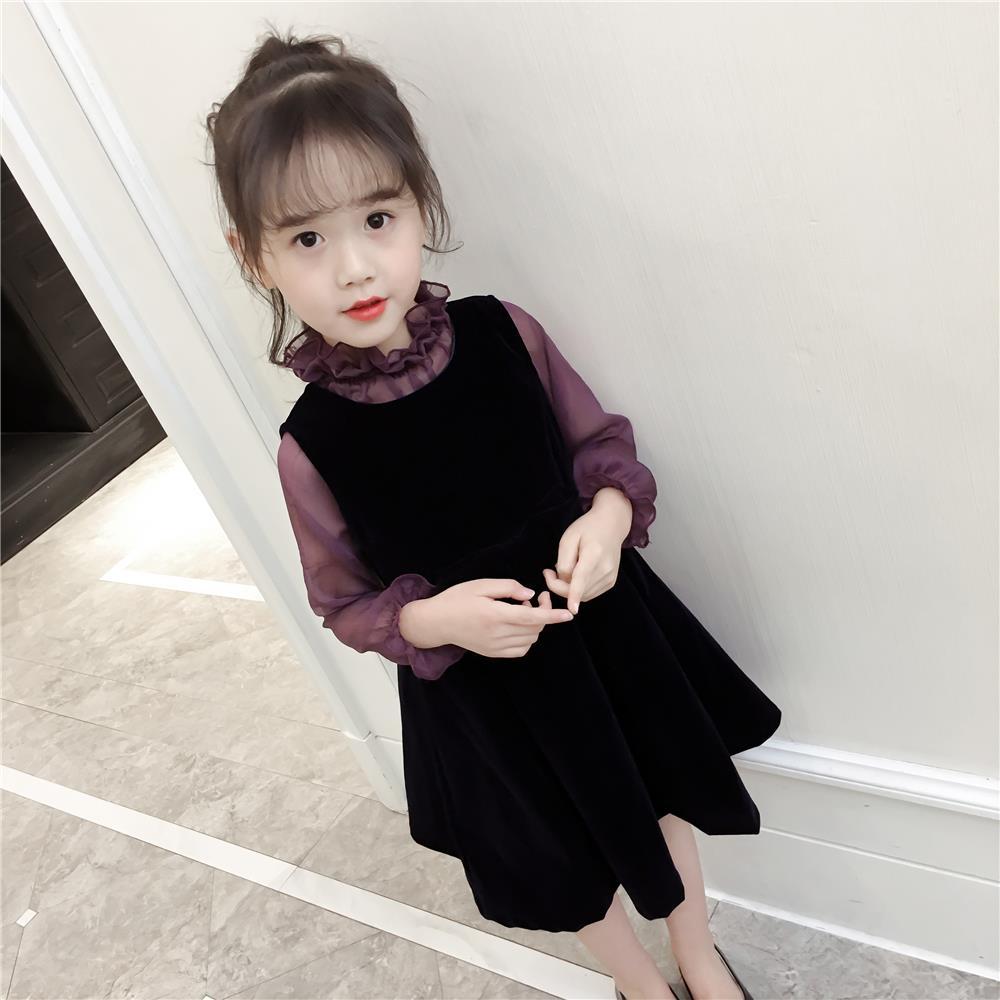 【两件套连衣裙】2020女童秋装连衣裙套装女洋气公主儿童裙子春秋
