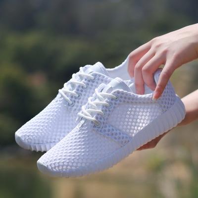 夏季大码网鞋女41白色女士单鞋胖脚休闲鞋软底妈妈鞋透气情侣鞋43