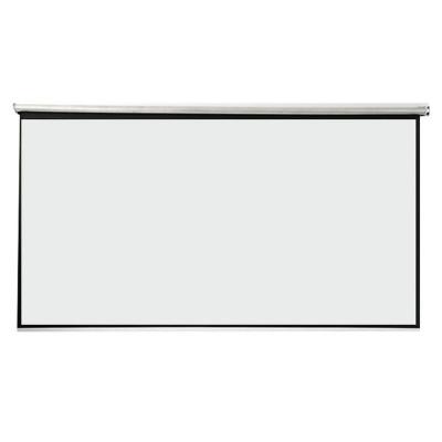 白塑玻纤灰玻纤窗帘式手拉升降幕布60-150寸家用办公高清投影幕布