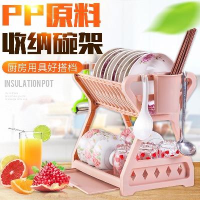 [亏本促销]多功能碗筷架碗碟沥水架碗柜厨房置物架盘子碗筷收纳箱