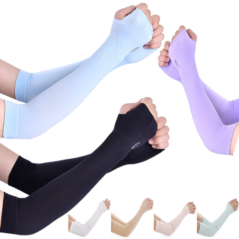 冰丝防晒袖套女手套男袖子紫外线加长护臂手臂套袖夏季