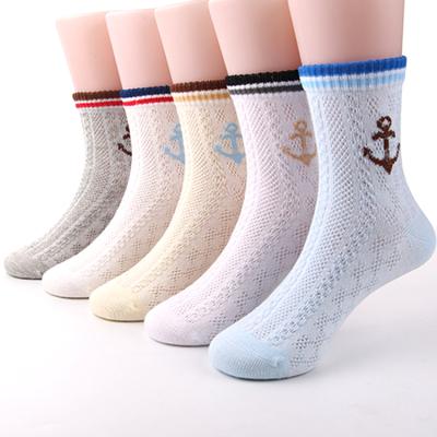 儿童袜子夏季薄款透气网眼袜男童女童吸湿棉袜卡通学生袜3-7-12岁
