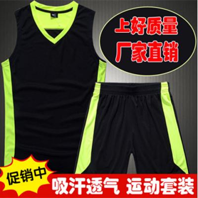 无袖篮球服运动服套装男夏季宽松背心男士速干健身跑步服吸汗透气